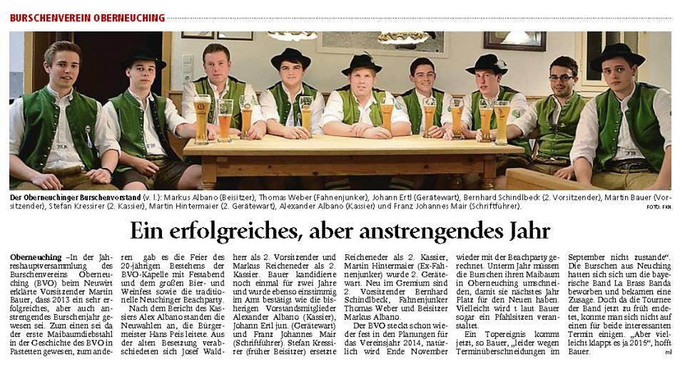 Pressebericht_Vorstandschaft_2014
